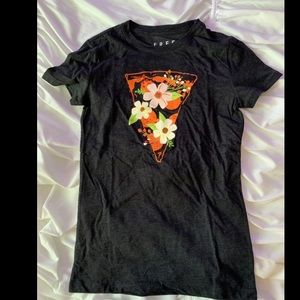 Tops - Floral Pizza Graphic Tee